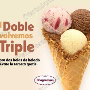 Häagen Dazs: 3×2 en bolas de helado