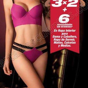 Sears: 3×2 en toda la ropa interior  para dama y caballero, medias, calcetines y más
