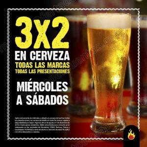 Las Alitas: 3×2 en toda las Cervezas de Miércoles a Sábado