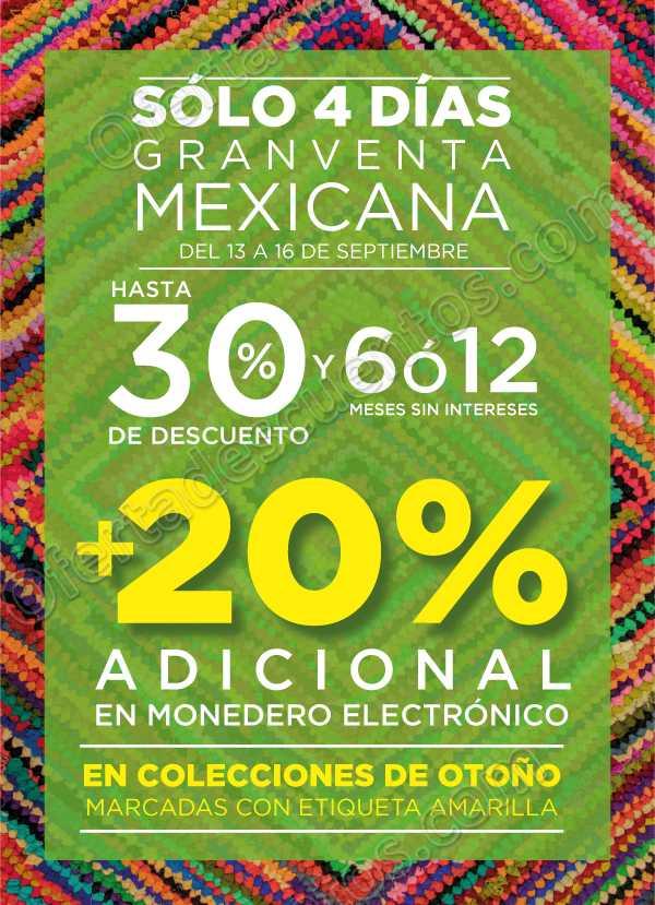 4 Días de Gran Venta Mexicana The Home Store del 13 al 16 de Septiembre 2018