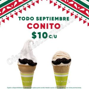 Nutrisa: Conito Mexicano a $10 pesos todo Septiembre