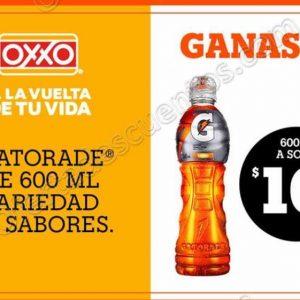 Oxxo: Cupón Gatorade 600 ml por solo $10