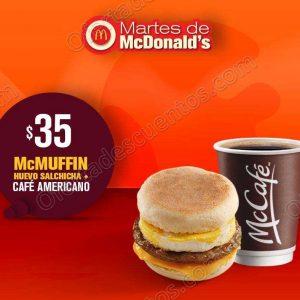 Cupones Martes de McDonald's 11 de Septiembre 2018