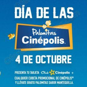 Promoción Día de las Palomitas Cinépolis: Refill GRATIS llevando cubeta promocional el 4 de Octubre 2018