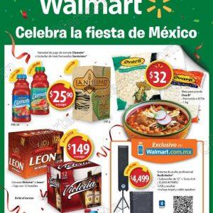 """Walmart: Folleto de Ofertas """"Celebra la Fiesta de México"""" del 2 al 16 de Septiembre 2018"""