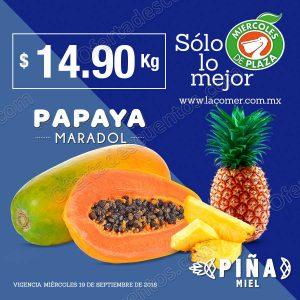 Frutas y Verduras Miércoles de Plaza La Comer 19 de Septiembre 2018