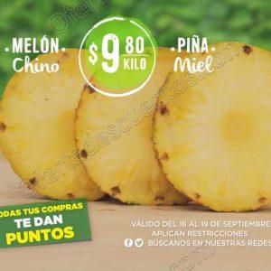 Frutas y Verduras Mega Soriana 18 y 19 de Septiembre 2018