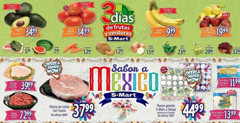 3 Días de Frutas y Verduras S-Mart del 25 al 27 de Septiembre 2018