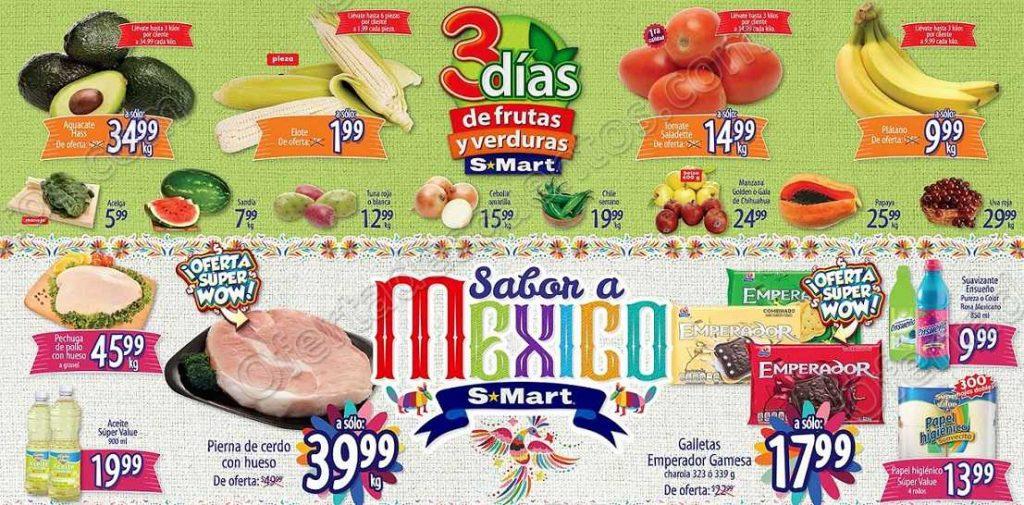3 Días de Frutas y Verduras S-Mart del 11 al 13 de Septiembre 2018