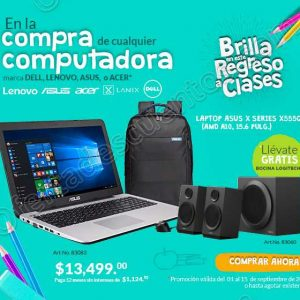 Office Depot: Gratis Bocinas Logitech en la compra de una Laptop y más