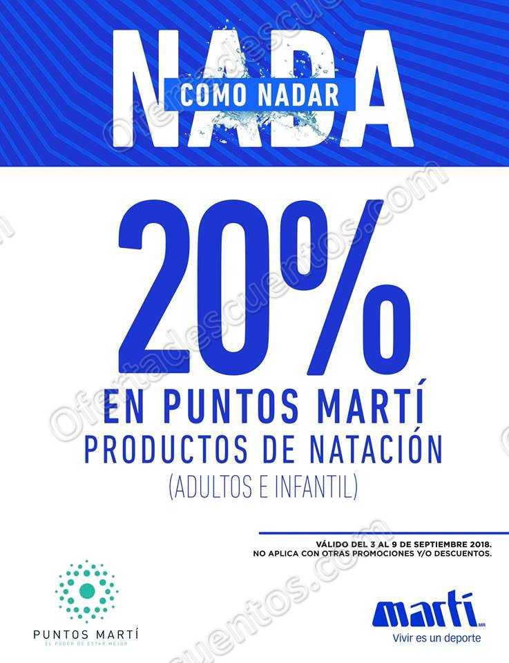 Martí: 20% en puntos Martí en producto de natación