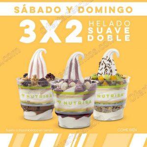 Nutrisa: 3×2 en Helado Suave doble Sábado y Domingo