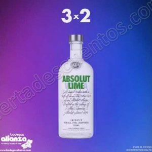 Bodegas Alianza: Oferta Flash 3×2 en Vodka Absolut 28 de Septiembre 2018