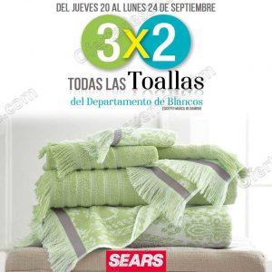 Sears: 3×2 en todas las toallas del departamento de blancos