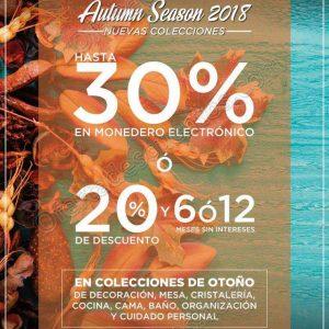 The Home Store: Hasta 30% en Monedero Electrónico en Colecciones de Otoño