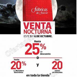 venta nocturna fabricas de francia 5 y 6 de octubre 2018