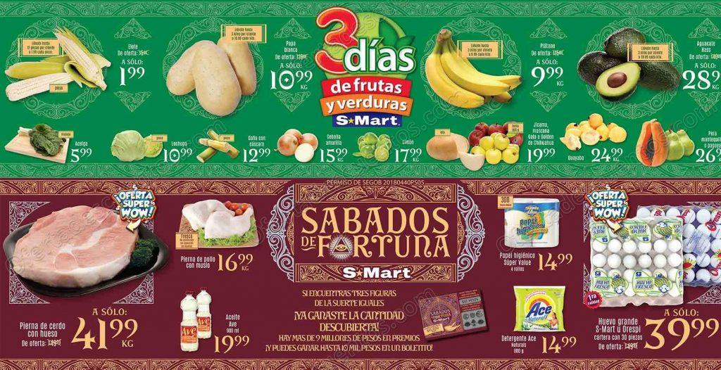 Tres días de frutas y verduras S-Mart del 30 de octubre al 1 de noviembre 2018