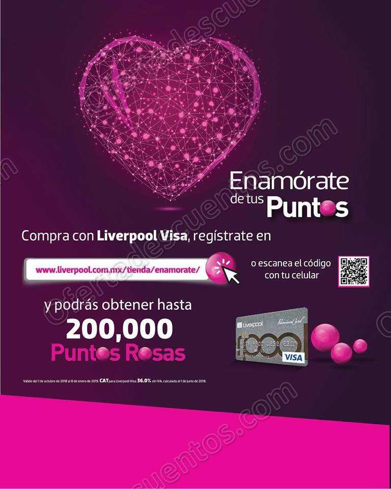 Promoción Enamórate de tus Puntos Rosas Liverpool Participa y Gana hasta $20,000 pesos