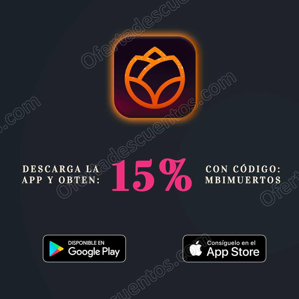 EnvíaFlores: Recibe 15% de descuento al descargar y comprar desde la App