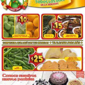 Frutas y Verduras Bodega Aurrerá del 12 al 18 de Octubre 2018