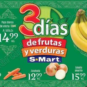 3 Días de Frutas y Verduras S-Mart del 2 al 4 de Octubre 2018