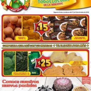 Frutas y Verduras Bodega Aurrerá del 19 al 25 de Octubre 2018