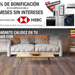 Gran Semana HSBC The Home Depot: 5% de bonificación más 12 meses sin intereses