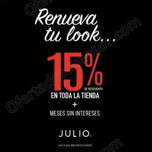 Julio: 15% de descuento con la promoción Renueva tu Look