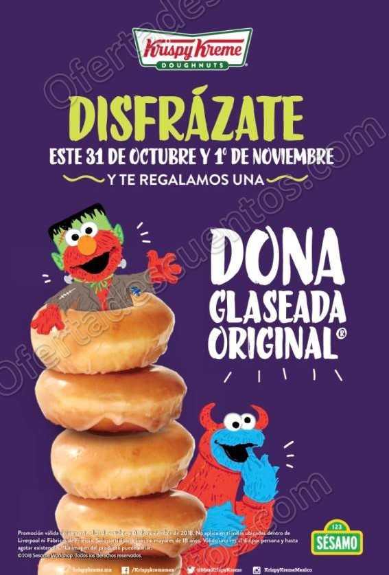Krispy Kreme: Dona GRATIS a todos los niños disfrazados este 31 de Octubre y 1 de Noviembre 2018