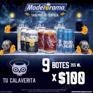 Modelorama: Promo100 paquete de cervezas por $100