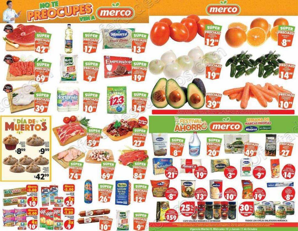 Preciazos en Frutas y Verduras Merco del 9 al 11 de Octubre 2018