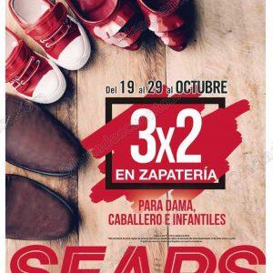 Sears: 3×2 en Calzado para toda la familia del 19 al 29 de Octubre 2018