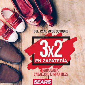 Sears: 3×2 en todo el Calzado para dama, Caballero e Infantiles