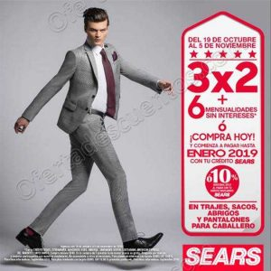 Sears: 3×2 en Trajes, Sacos, Abrigos y Pantalones para Caballero