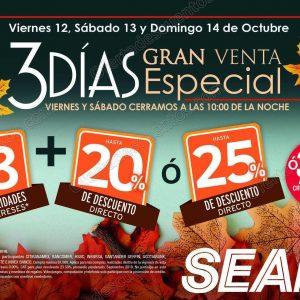 3 Días de Venta Especial Sears del 12 al 14 de Octubre 2018