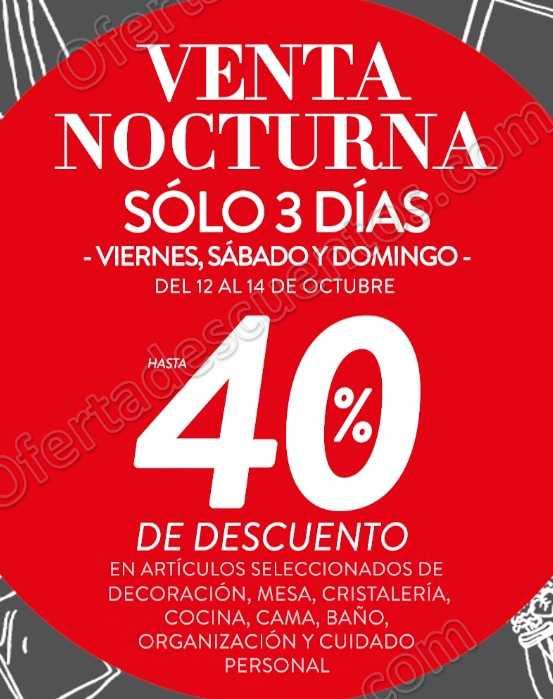Venta Nocturna The Home Store: Hasta 40% de descuento del 12 al 14 de Octubre 2018