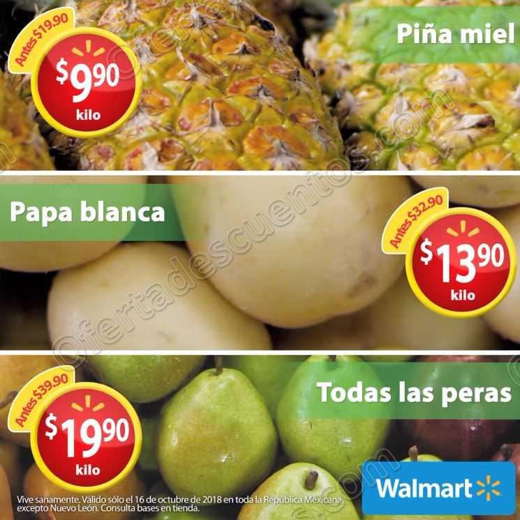 Martes de Frescura Walmart 16 de Octubre 2018
