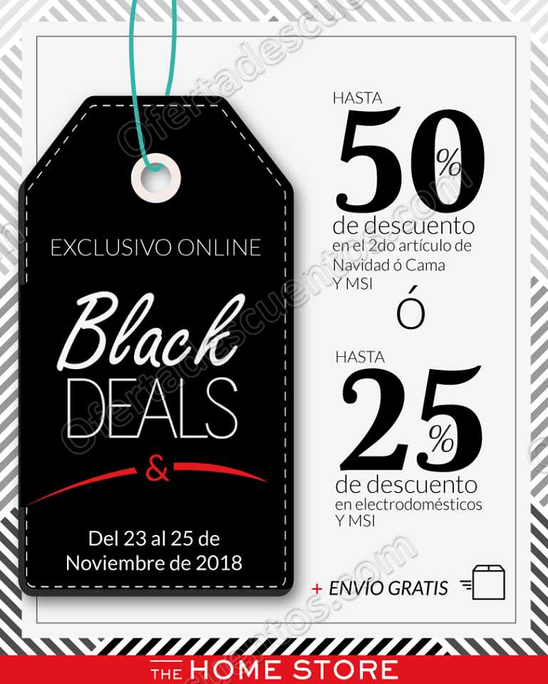 Black Deals The Home Store: Hasta 50% de descuento