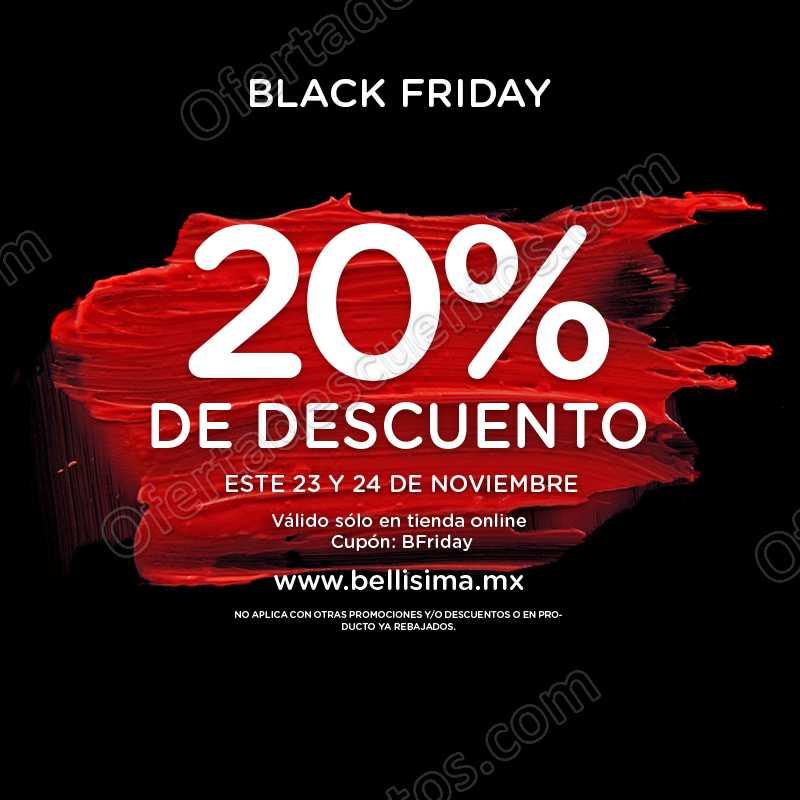 Black Friday 2018 Bellísima: 20% de descuento en toda la tienda en línea
