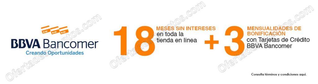 Promoción El Buen Fin 2018 Chedraui: 18 meses sin intereses más 3 meses de bonificación con Bancomer