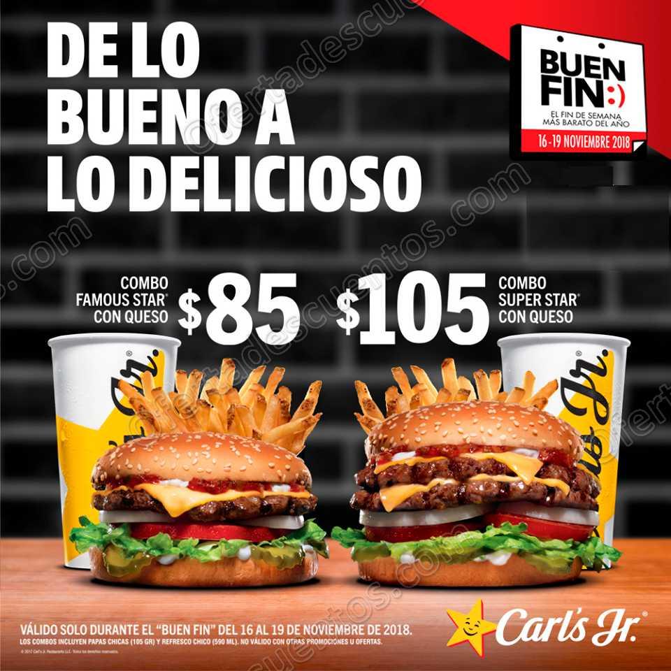 Promociones El Buen Fin 2018 Carls Jr.