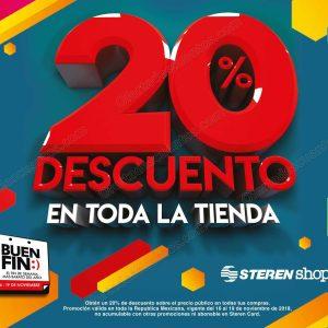 El Buen Fin 2018 Steren: 20% de descuento en toda la tienda