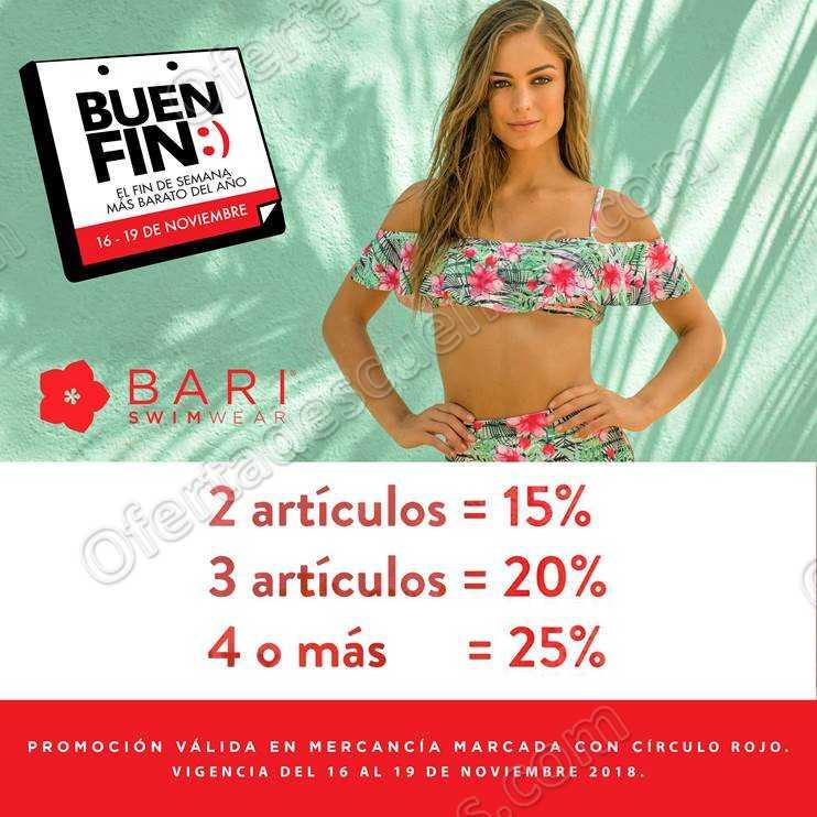 Promociones El Buen Fin 2018 en Bari Swimwear