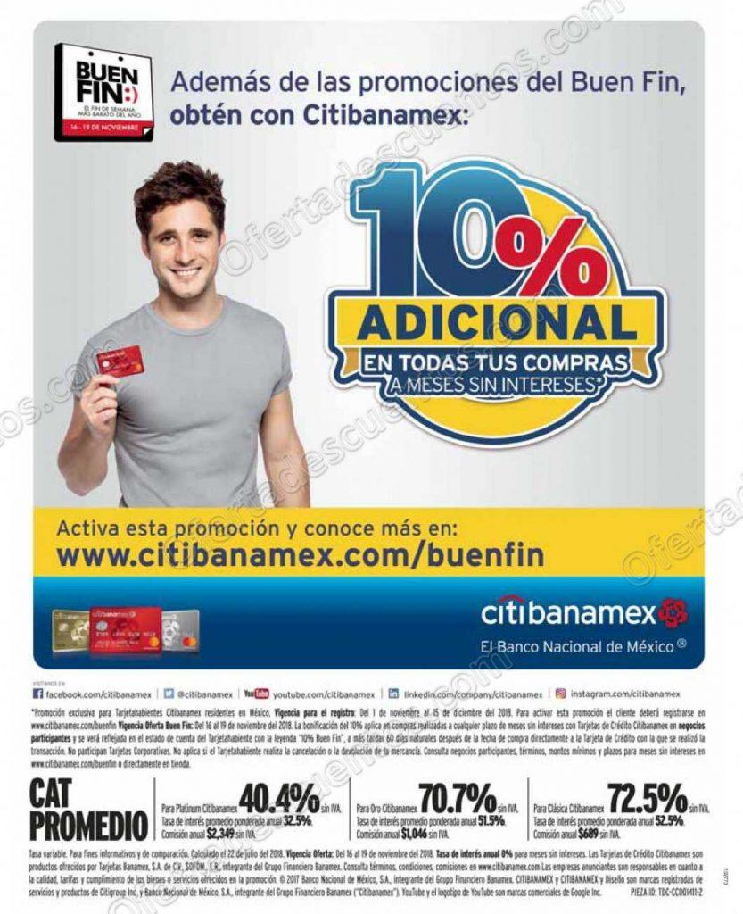 Promoción El Buen Fin 2018 Citibanamex: Regístrate y Activa la Promoción 10% de descuento adicional