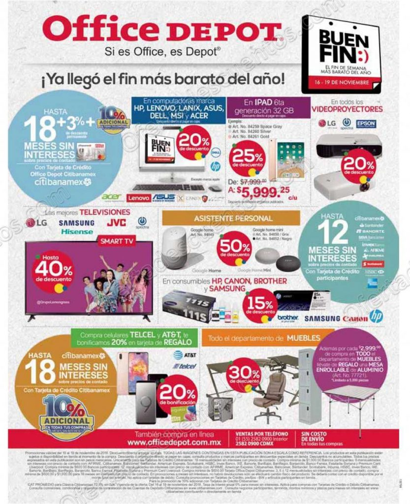 Folleto Ofertas Buen Fin 2018 Office Depot