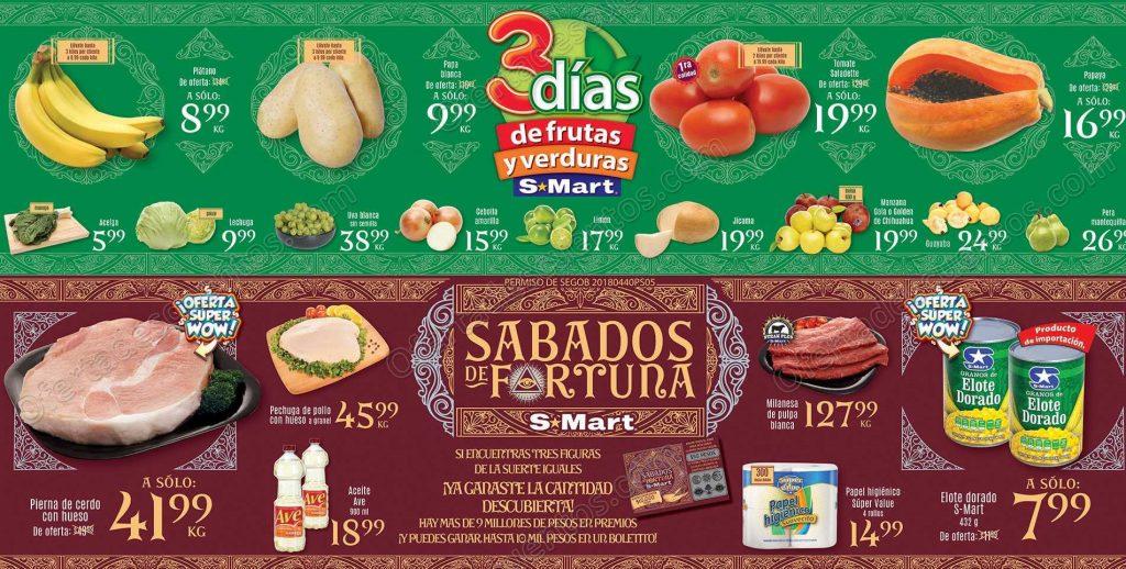 Tres Días de Frutas y Verduras S-Mart del 6 al 8 de Noviembre 2018