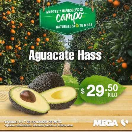 Frutas y Verduras Mega Soriana 6 y 7 de Noviembre 2018