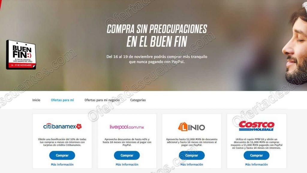 Promociones Buen Fin 2018 PayPal