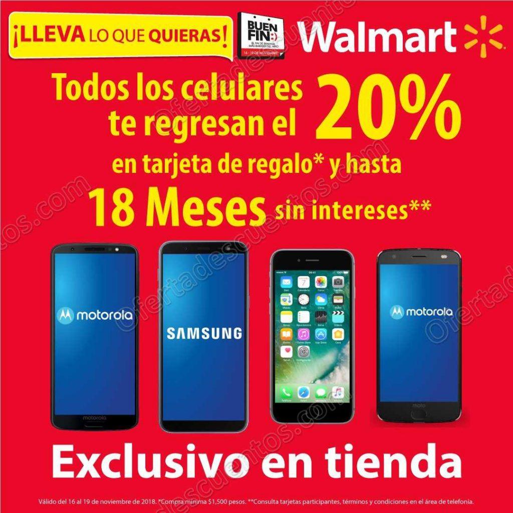 a98b903e883 Promociones Buen Fin 2018 Walmart: 20% de bonificación en Celulares