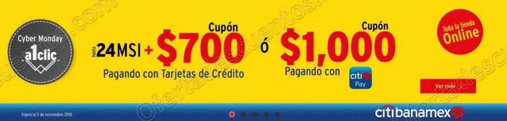 Cyber Monday Elektra: Cupón de hasta $1,000 pagando con Citibanamex